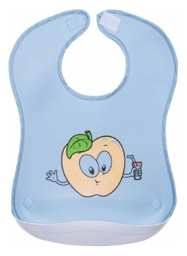 Sevi Bebe Sevi Bebe Plastik Cepli Önlük  Mavi